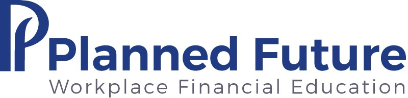Planned Future, Workplace Financial Education Dark blue logo